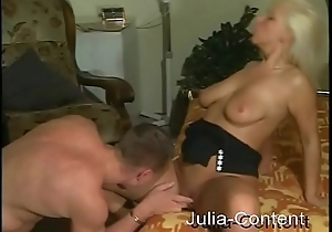 Tow-haired Milf fucked in Livingroom