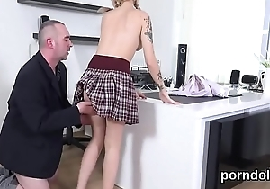 Kissable schoolgirl is seduced and banged by her senior lecturer