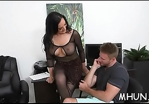 Massive pecker bangs sexy milf