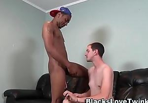 Twink nailed by black guy