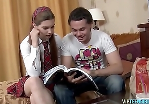 Schoolgirl Doll Fucked Hard in Ass