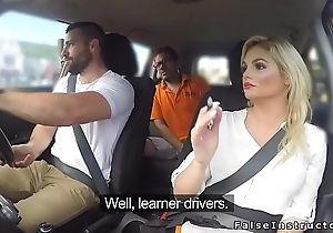 Male driving student bangs Milf examiner