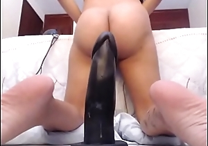 MILFSEXYCAM.COM-Latina Riding Dildo with Asshole