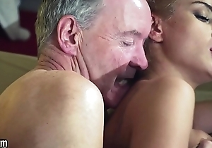 Old Man In possession of sexy hot babe in old young femdom hardcore fucking