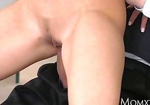 MOM Blind Date and hot fuck on the stairs with glamorous Perfect Tits MILF