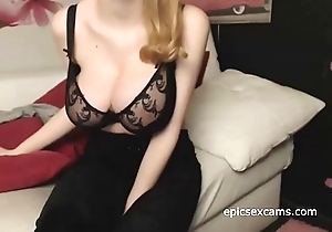 Redhead Shows Lacking Her Massive Natural Tits On Webcam ~epicsexcams.com~