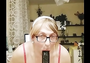 my sexy black dildo and my cum