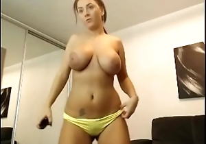 Hot obese tits and sexy body girl stripped show