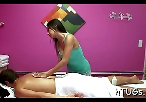 Masseuse with a breathtaking body