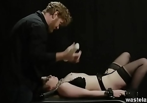 Shackled And Toyed Blowjob