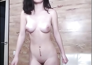 Hot Asian girl naked unorthodox show