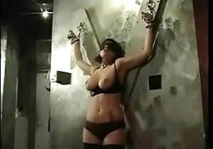 big tits slut gets her its nipples squeezed by her master