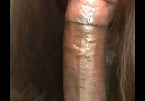 She tearing up sucking dick