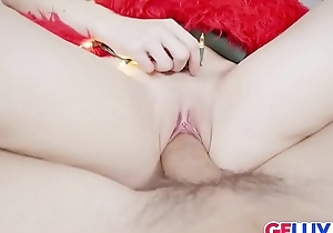 Xmas Sex be fitting of Naughty Teen Elf Lucie Cline