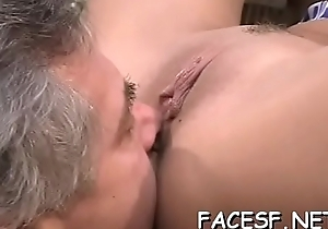 Favourable dude gets face smothered