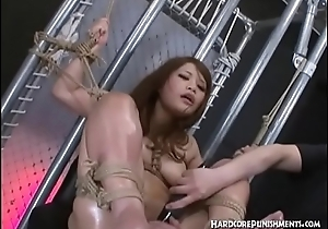 Intense BDSM Oriental Mood for Japanese Teen and Her Hairy Pussy
