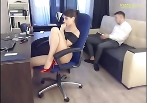 Hot Account Manager &amp_ His Boss - Live from Office