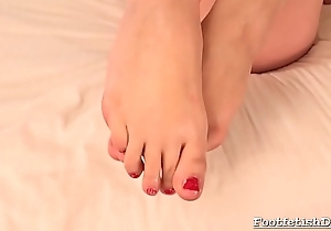 Nasty Blonde Simply Adores Her Feet