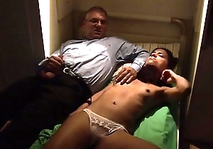 Dirty old father abusing his sleeping daughter
