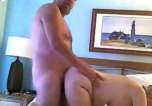 Fat Fuck Pig out on 3 hole whore