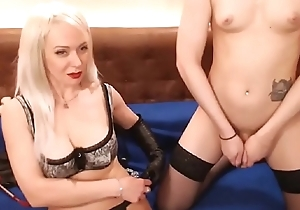 Mistress Dominating Her Shemale Slave