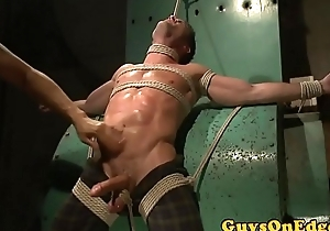 Handsome muscle stud edged while life